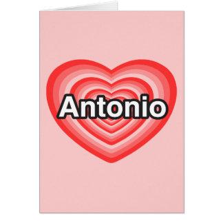 Jag älskar Antonio. Jag älskar dig Antonio. Hjärta Hälsningskort