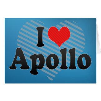 Jag älskar Apollo Hälsningskort