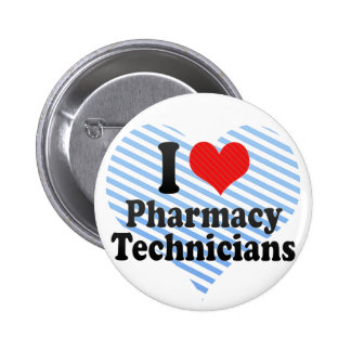 Jag älskar apotektekniker standard knapp rund 5.7 cm