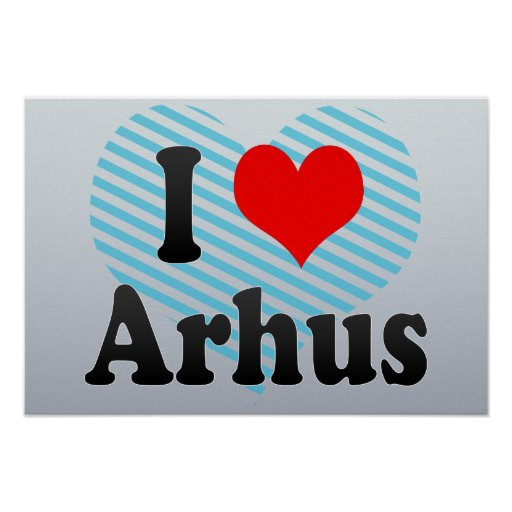 Jag älskar Arhus, Danmark Posters