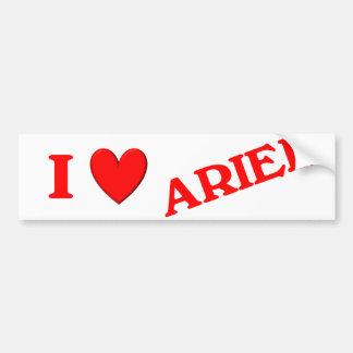Jag älskar Ariel Bildekal