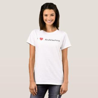 Jag älskar arkitektur t shirt
