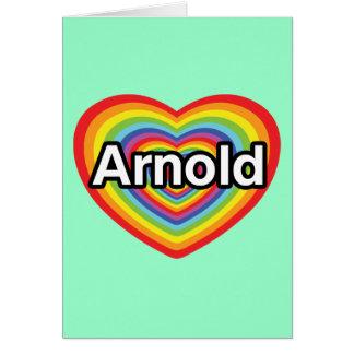 Jag älskar Arnold, regnbågehjärta Hälsningskort
