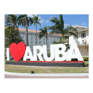 Jag älskar Aruba - en lycklig ö Vykort