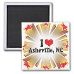 Jag älskar Asheville, NC Magneter För Kylskåp