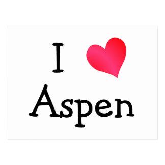 Jag älskar aspen vykort