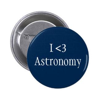 Jag älskar astronomi standard knapp rund 5.7 cm
