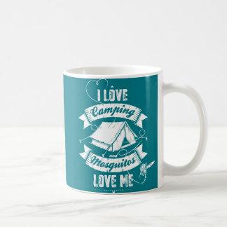 Jag älskar att campa kaffemugg