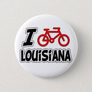Jag älskar att cykla Louisiana Standard Knapp Rund 5.7 Cm
