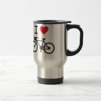 Jag älskar att cykla resemugg