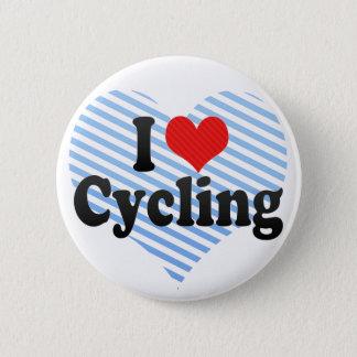 Jag älskar att cykla standard knapp rund 5.7 cm