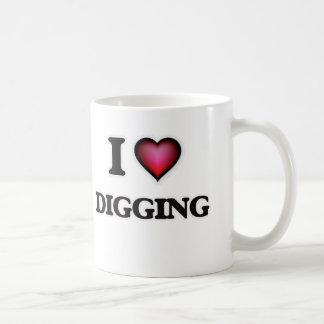 Jag älskar att gräva kaffemugg