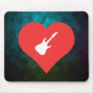 Jag älskar att leka elektriska gitarrer musmatta