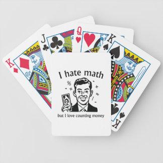 Jag älskar att räkna pengar spelkort
