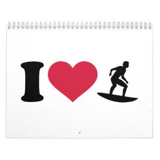 Jag älskar att surfa kalender