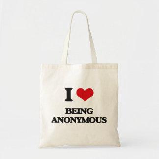 Jag älskar att vara anonym tote bag