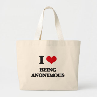 Jag älskar att vara anonym jumbo tygkasse