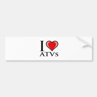 Jag älskar ATVs Bildekal