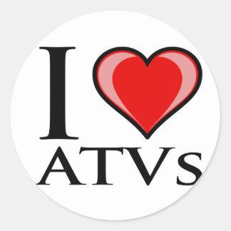 Jag älskar ATVs Runt Klistermärke