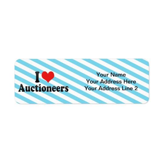 Jag älskar Auctioneers Returadress Etikett