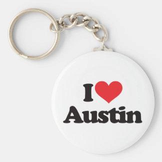 Jag älskar Austin Rund Nyckelring
