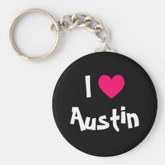 Jag älskar Austin Texas Rund Nyckelring