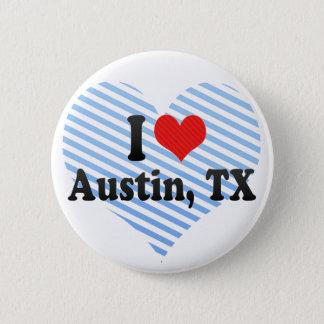 Jag älskar Austin, TX Standard Knapp Rund 5.7 Cm