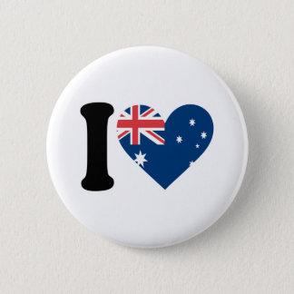 Jag älskar Australien Standard Knapp Rund 5.7 Cm