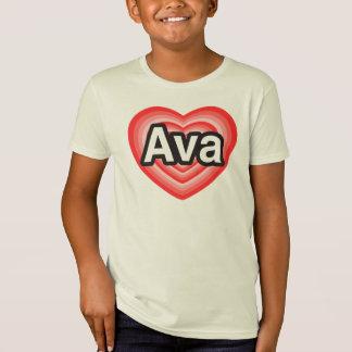 Jag älskar Ava. Jag älskar dig Ava. Hjärta T Shirts
