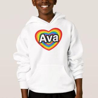 Jag älskar Ava. Jag älskar dig Ava. Hjärta Tee