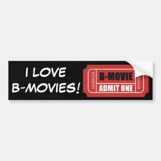 Jag älskar b-filmer! bildekal