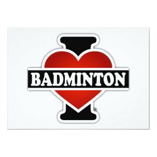 Jag älskar Badminton 12,7 X 17,8 Cm Inbjudningskort