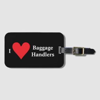 Jag älskar bagageförlagehanterare bagagebricka