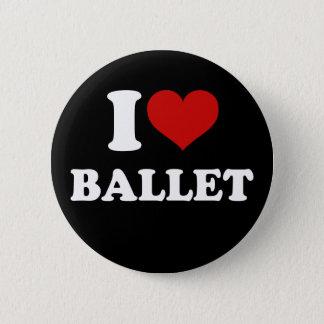 Jag älskar balett standard knapp rund 5.7 cm