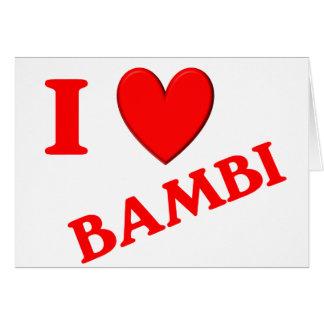 Jag älskar Bambi Hälsningskort