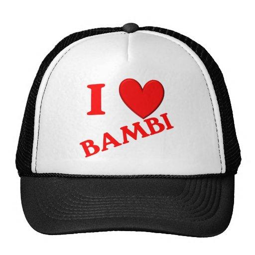 Jag älskar Bambi Baseball Hat