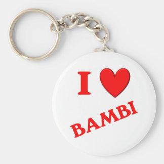 Jag älskar Bambi Nyckelringar