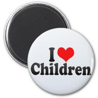 Jag älskar barn magnet rund 5.7 cm