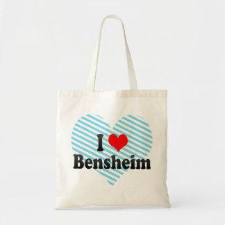 Jag älskar Bensheim, Tyskland Budget Tygkasse