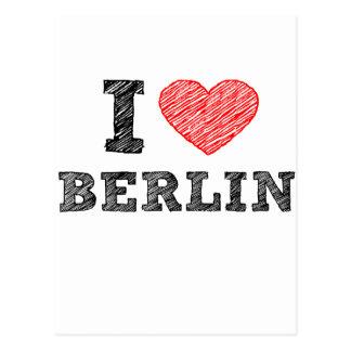 Jag älskar Berlin Vykort