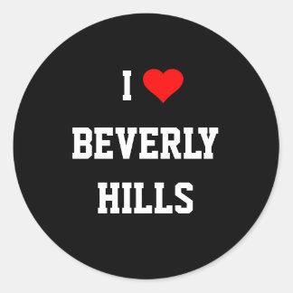 Jag älskar Beverly Hills Runt Klistermärke