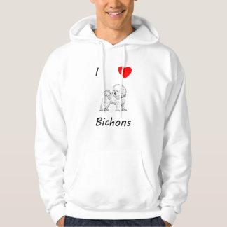 Jag älskar Bichons Tröja Med Luva