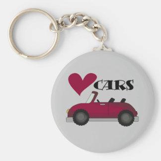 Jag älskar bilTshirts och gåvor Rund Nyckelring