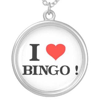 Jag älskar Bingo Halsband Med Rund Hängsmycke