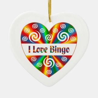 Jag älskar Bingo Julgransprydnad Keramik