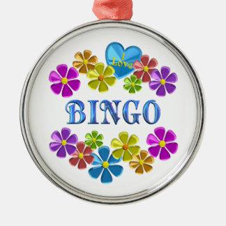 Jag älskar Bingo Julgransprydnad Metall
