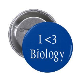 Jag älskar biologi standard knapp rund 5.7 cm