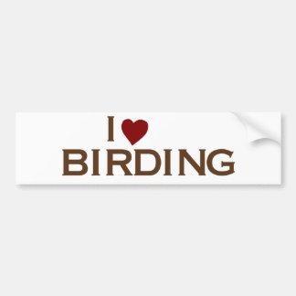 Jag älskar Birding Bildekal