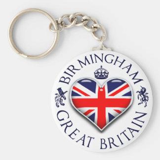 Jag älskar Birmingham Rund Nyckelring