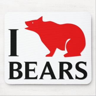 Jag älskar björnar musmatta